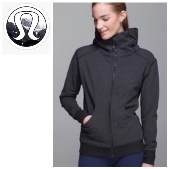 LULULEMON   Zip *Cotton Fleece Grey Size 12